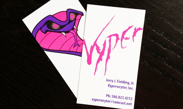 VyperWryter - business card